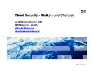 Cloud Security - Risiken und Chancen - of Matthias Schunter