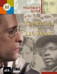People v. Leo Frank Teacher's Guide, ADL - Toronto Jewish Film ...