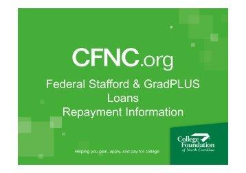 Federal Stafford & GradPLUS Loans Repayment Information - Duke ...