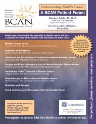 A BCAN Patient Forum - Bladder Cancer Advocacy Network