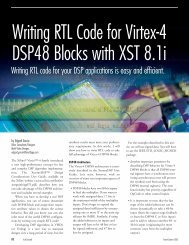 Writing RTL Code for Virtex-4 DSP48 Blocks with XST 8.1i