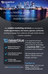 Choose the leading global mobile marketingfirm