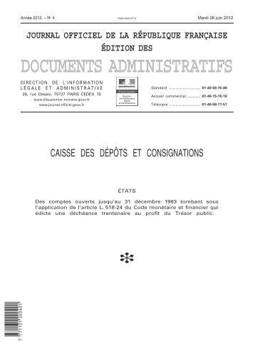 Consulter la déchéance 2013 au format pdf - Consignations ...