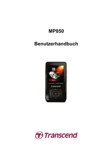 MP850 Benutzerhandbuch - Transcend Info