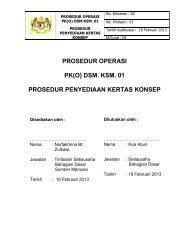 Prosedur Penyediaan Kertas Konsep - Kementerian Sumber Manusia