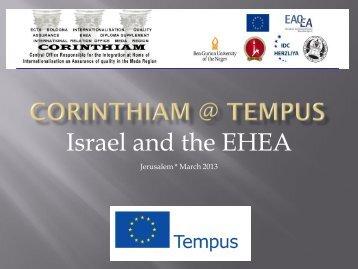 Israel and the EHEA_IDC - Tempus Corinthiam
