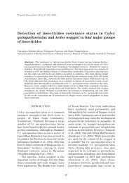 101 Detection of insecticides resistance status in - MSPTM