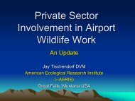 Perspectives On Private Sector Involvement in Airport Wildlife ...