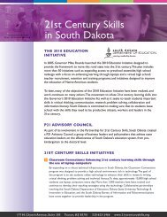 21st Century Skills in South Dakota - The Partnership for 21st ...