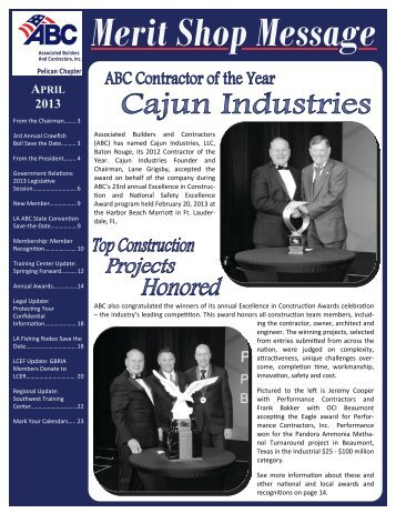 April 2013 Newsletter - ABC