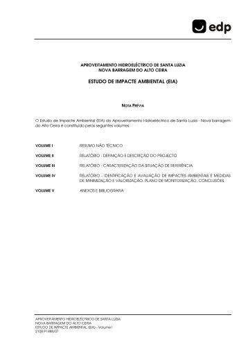 ESTUDO DE IMPACTE AMBIENTAL (EIA) - EDP