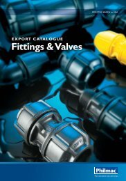 2006 Philmac Fittings & Valves export catalogue.pdf - Glynwed Asia