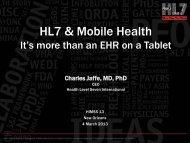 HL7 & Mobile Health