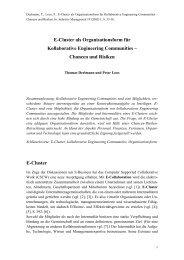 Kollaborative Engineering Communities - Lehrstuhl für ...