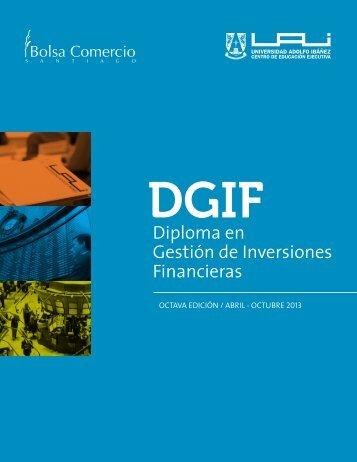 DGIF Diploma en Gestión de Inversiones Financieras Abril / Octubre ...