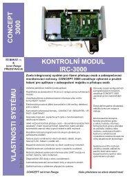 concept 3000 kontrolní modul irc-3000 vlastnosti systému - Eurosat CS