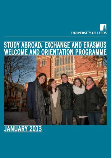 Study Abroad, Exchange and Erasmus Welcome Programme