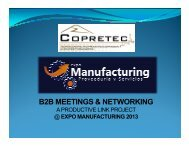 List of Products & Services Needed by Manufacturers at Expo ...