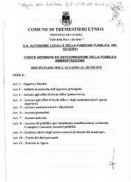 Disciplinare per l'accesso al municipio - Comune di Tremestieri Etneo