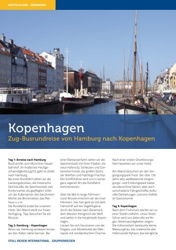 Kopenhagen - Stoll Reisen International