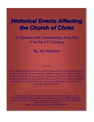 Historical Events Affecting the Church of Christ PDF - Gospel Lessons