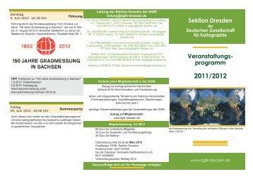 Jahresprogramm 2011/12 (pdf) - der DGfK Dresden