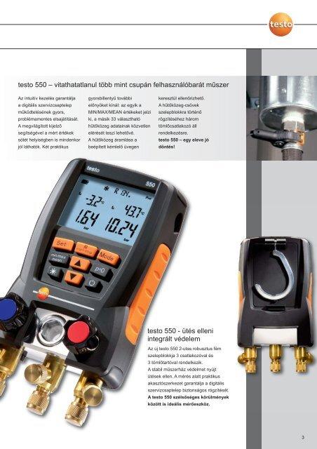 A testo 550 digitális szervizcsaptelep minden mérési feladat ideális ...
