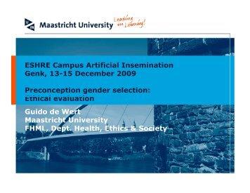 Choose your sex part 2. Preconception gender selection ... - eshre