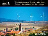 from the Global Wind Energy Council