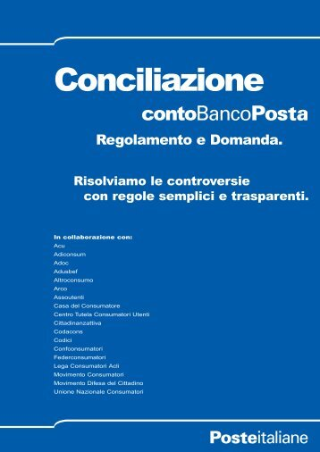 REGOLAMENTO DI CONCILIAZIONE CONTO ... - Poste Italiane
