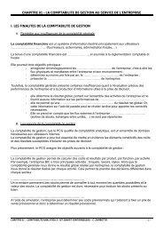 chapitre 01 - la comptabilite de gestion au service de l'entreprise i ...