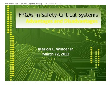 FPGAs in Safety-Critical Systems - MWFTR