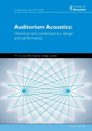 Auditorium Acoustics:
