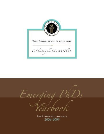 Emerging PhDs Yearbook - The Leadership Alliance
