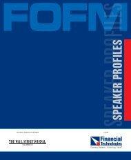 SPEAKER PROFILES - Fofm.in