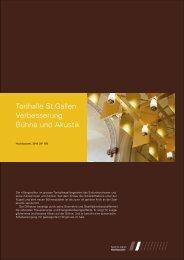 Tonhalle St.Gallen Verbesserung Bühne und Akustik