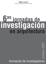 en arquitectura jornadas de - Facultad de Arquitectura