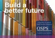 OSPS Booklet - Central Administration - University of Oxford