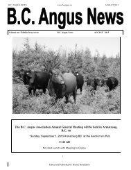 the August newsletter - BC Angus Association