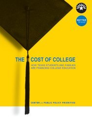 THE COST OF COLLEGE - Center for Public Policy Priorities