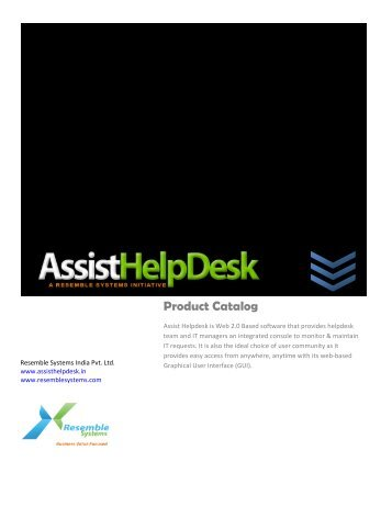 Product Catalog - resemble systems