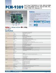 Features PCM-9389 Intel® Atom™ N455/D525 3.5 ... - Eurocomposant