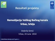 Rezultati projekta - Western Balkans Environment Programe