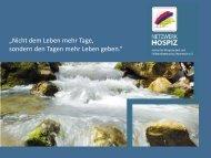 Präsentation Ehtisches Fallbeispiel - Netzwerk Hospiz