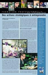 Formation professionnelle et technique - Fédération des ...