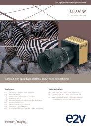 Download the ELiiXA 3V flyer - e2v