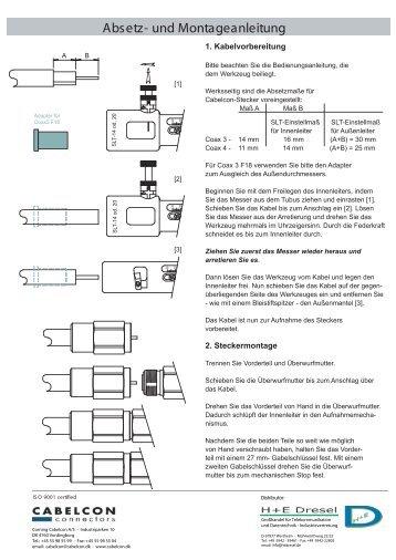Absetz- und Montageanleitung - H+E Dresel