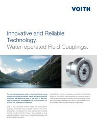 Innovative and Reliable Technology. Water-operated ... - Voith Turbo