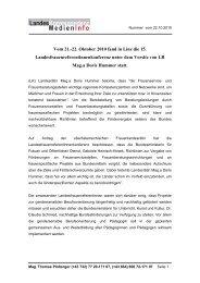 Vom 21.-22. Oktober 2010 fand in Linz die 15 ... - Frauenreferat