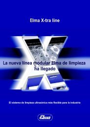 Elma X-tra line La nueva línea modular Elma de limpieza ... - Edeltec
